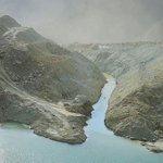 Image for the Tweet beginning: Jinsha River landslide: breaching has