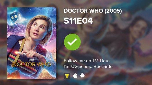 test Twitter Media - I've just watched episode S11E04 of Doctor Who (2005)! #doctorwho  #tvtime https://t.co/yqkxbMT2ij https://t.co/GlLOQ1auZV