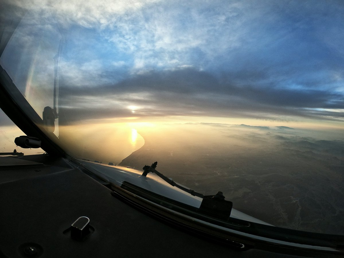The perk of coming from a night flight is always the #view #DayBreak #boeing737 #StayPositive<br>http://pic.twitter.com/7J8s9dsHXx
