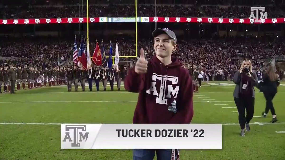 We salute you 🇺🇸  Thank you for your service, honored to host this special Dozier family moment  #GigEm #UABvsTAMU