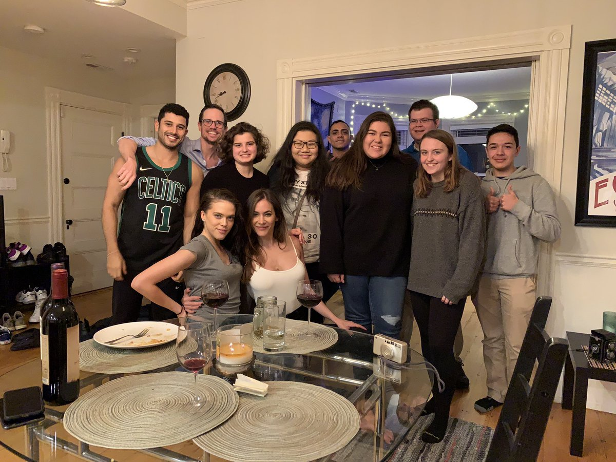 Every year my girlfriend and i invite random people from twitter who have no thanksgiving plans over for a dinner. another successful year!!