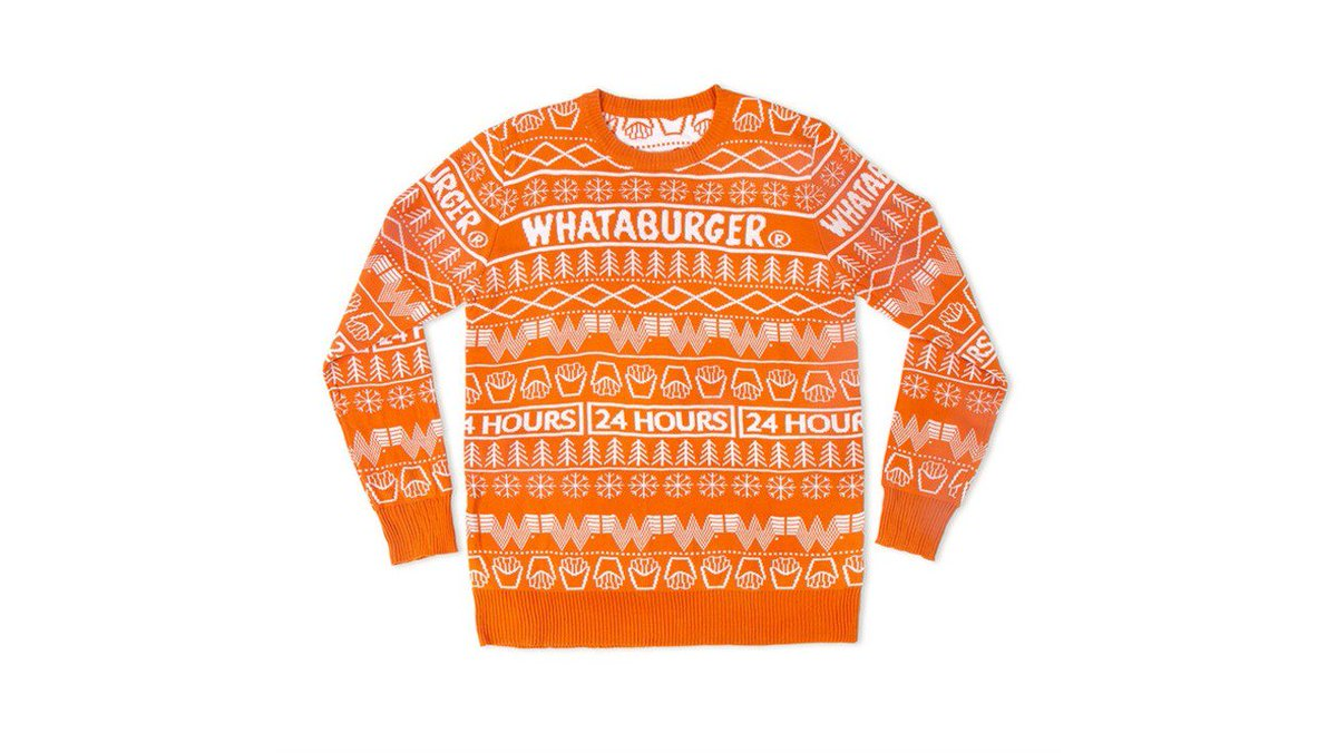 WOW: @Whataburger selling ugly Christmas sweater  https://t.co/pbb7MUURuX