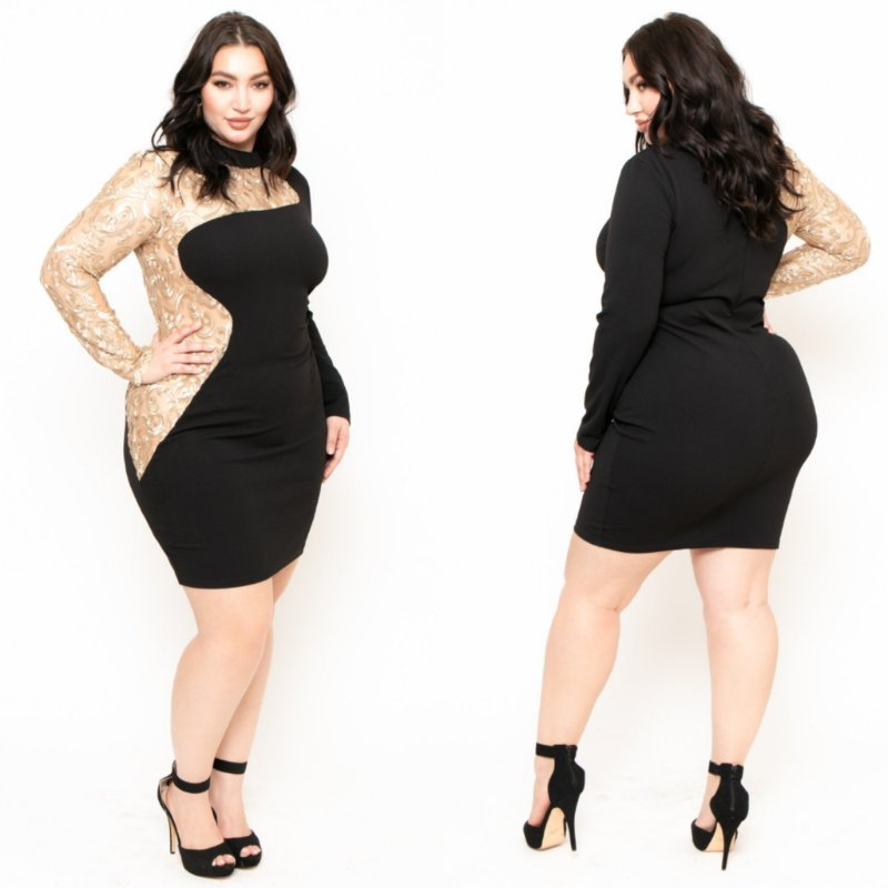 Curvy Sense On Twitter A Little Black Dress With Oomph Shop Our