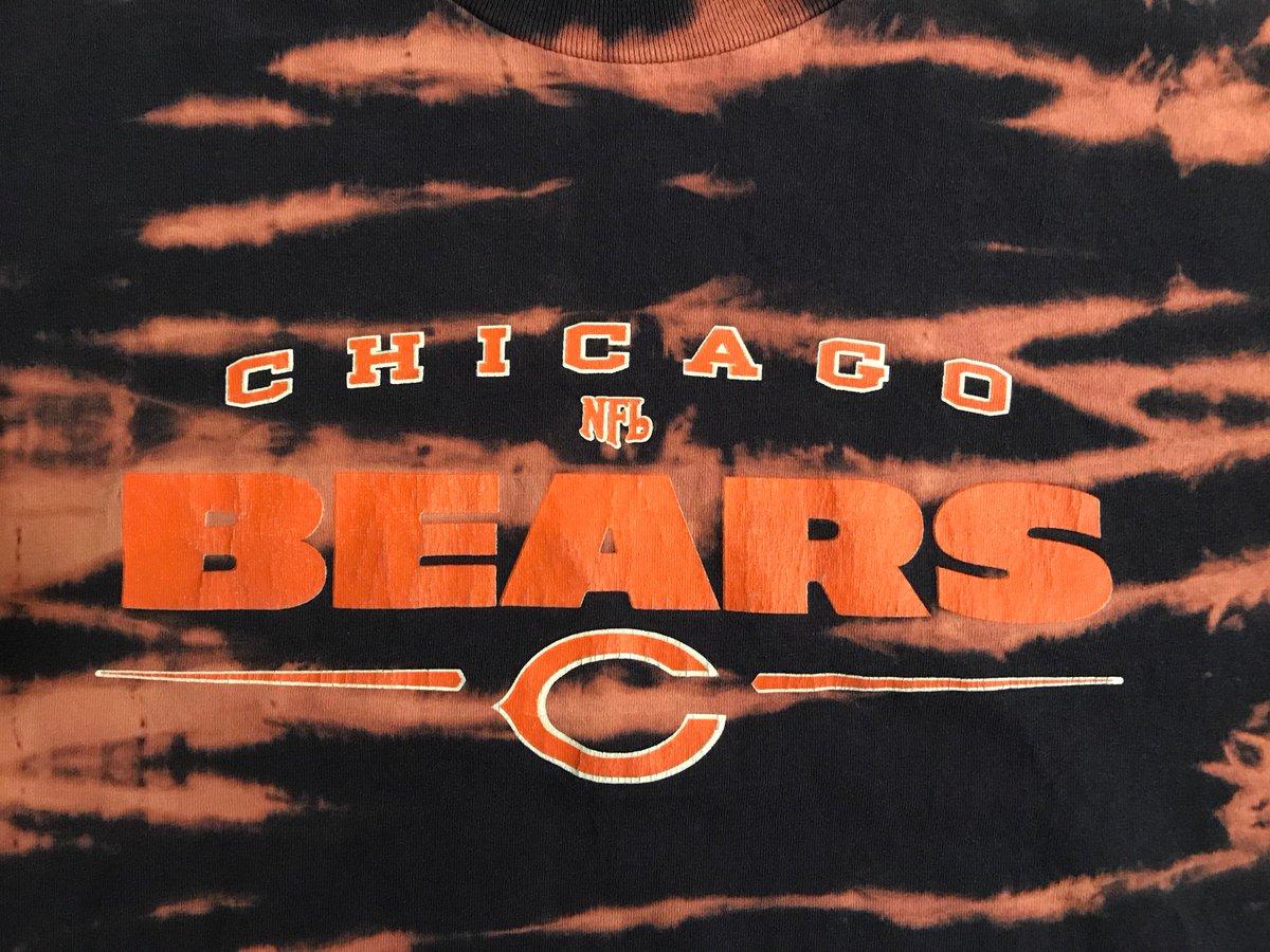 e50305466 ... One of a Kind Tie Dye T-Shirt https   etsy.me 2qSg76P  clothing  shirt   blue  orange  l  shortsleeve  crew  tiedye  bleachdye  Bears  chicagoBears  ...