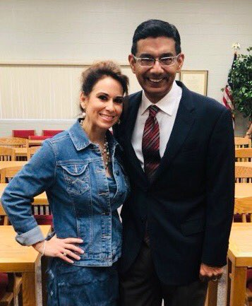 My wife @Debber66 and I are in her hometown of Harlingen, TX, getting ready to address a big crowd of conservatives. Who knew there were so many in the bluest part of the state?