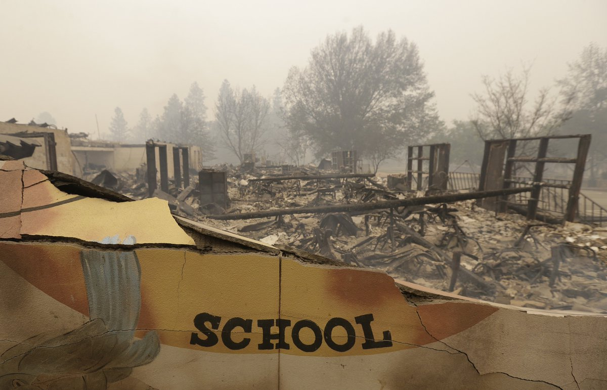 #CampFire: Nearly 1,300 remain on list of unaccounted for, human remains of five more people found in rubble, bringing death toll to 76.