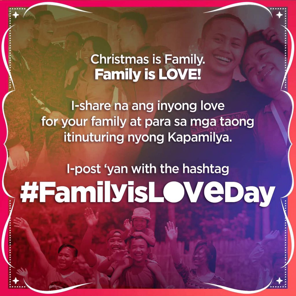 Be part of spreading the love. 🙂 Christmas Station ID is about to release so stay tuned! #FamilyIsLoveDay
