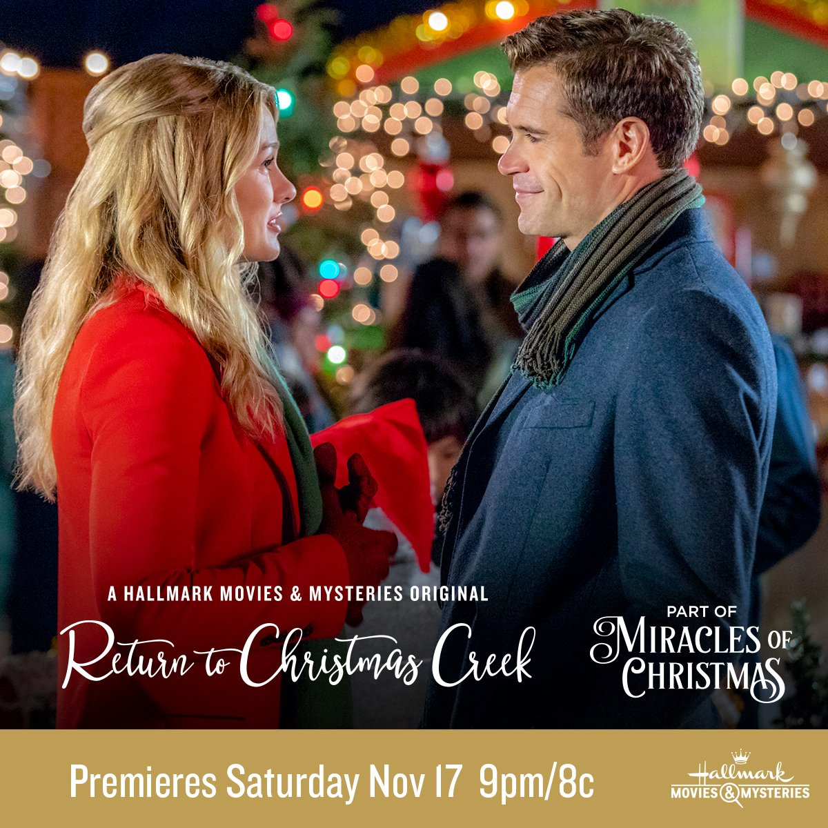 Okay...I just have to say that @toriandersona and @stephenhuszar have great chemistry! A perfect @hallmarkmovie couple! #ReturnToChristmasCreek #MiraclesOfChristmas #HallmarkPartner