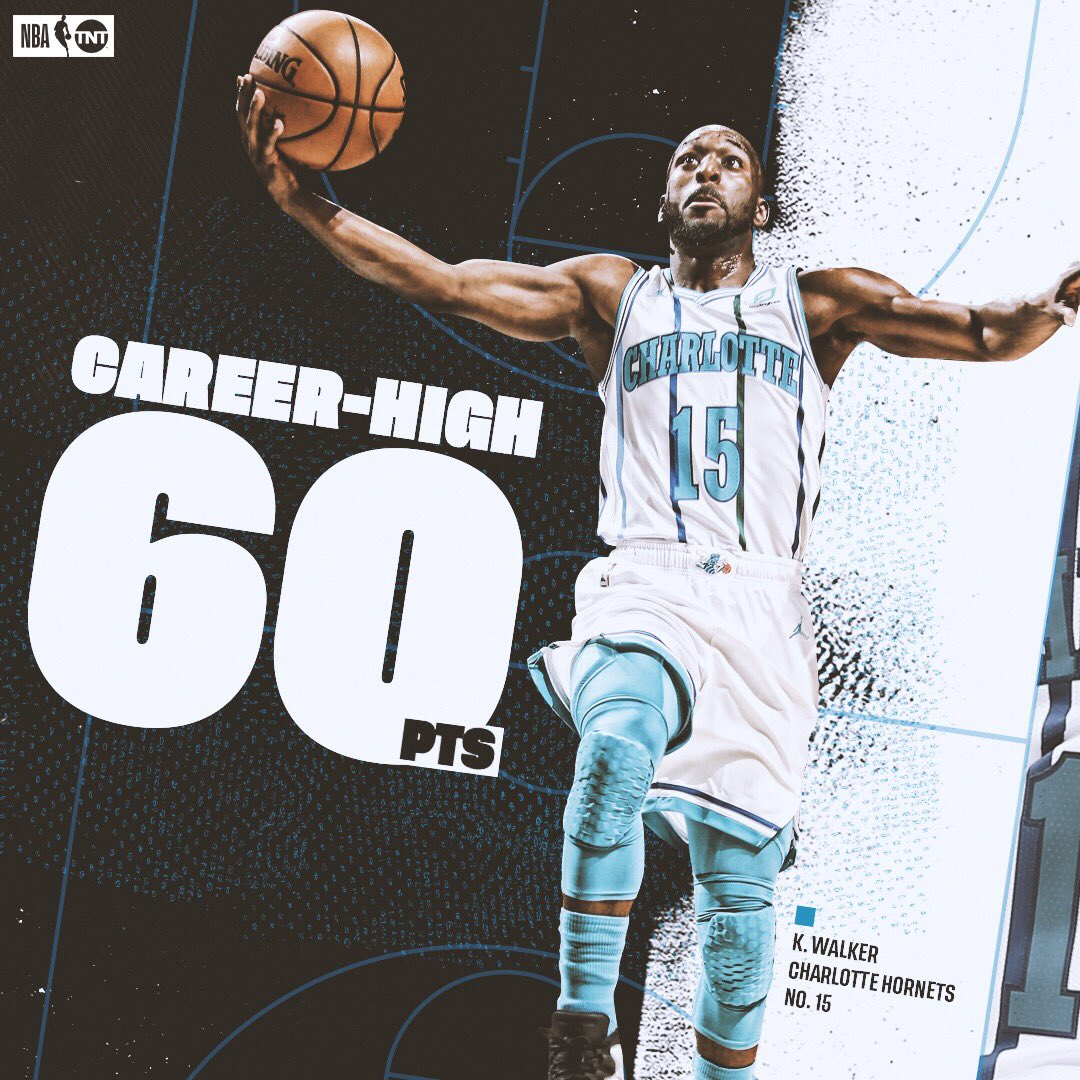 Kemba went OFF tonight 👀  #Hornets30