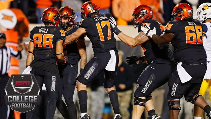 Oklahoma State upsets No. 9 West Virginia in the final minute 45-41 | College Football Highlights Photo