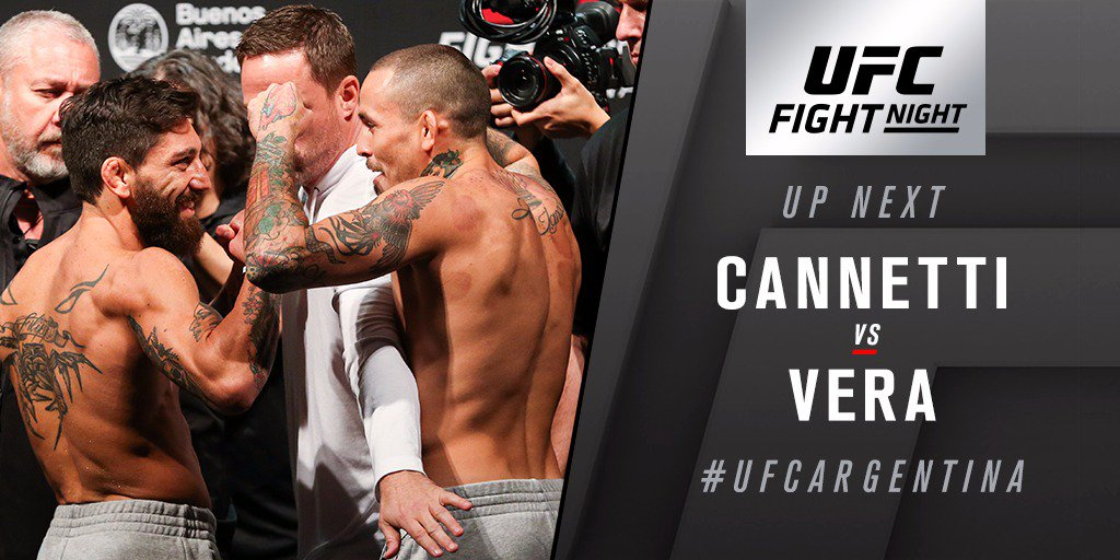 Who are you taking?  🇦🇷 @NinjaCannetti looks to ignite the crowd vs @ChitoveraUFC on @FS1. #UFCArgentina