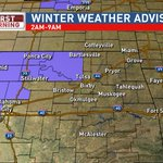 Image for the Tweet beginning: A winter weather advisory is
