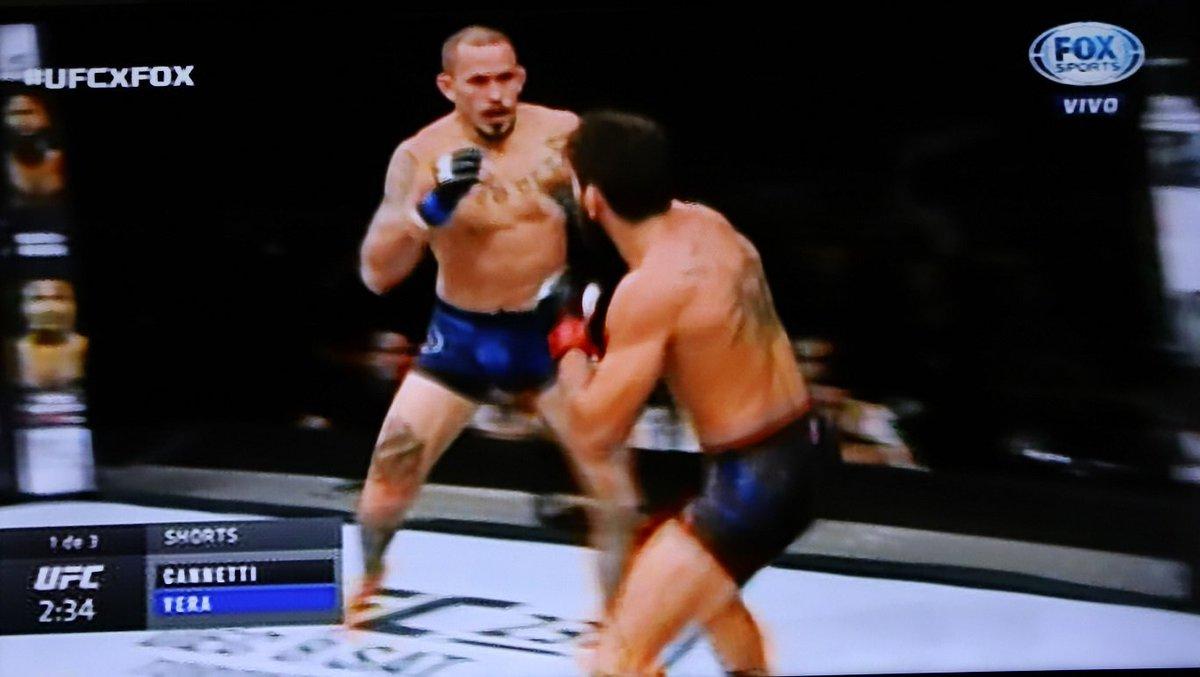 ¡ÚLTIMA HORA! El ecuatoriano Marlon 'Chito' Vera ganó esta noche al argentino Guido Cannetti, por sumisión, en el combate por el peso gallo de la UFC.