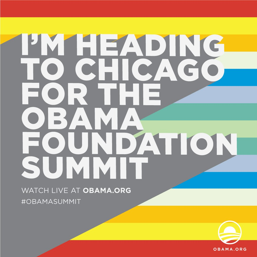 So excited to be joining the movers and shakers @ObamaFoundation summit. Well report back!