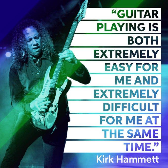 Happy Birthday to guitarist, Kirk Hammett!
