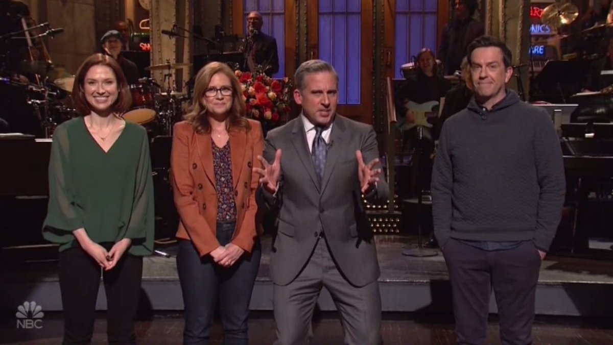 'The Office' cast urges Steve Carell to sign on for a reboot during #SNL monologue https://t.co/IsNN1wq5vp