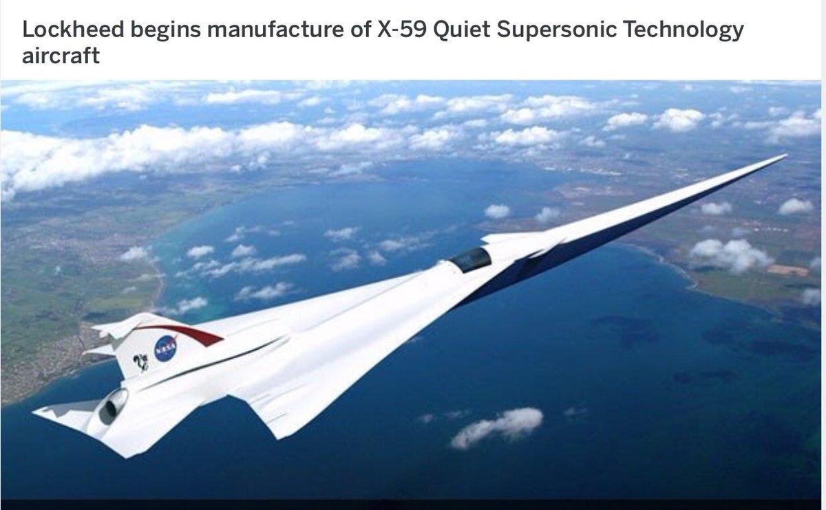 X-59 : طائره تجاريه من تصميم لوكهيد مارتن الامريكيه بسرعه اعلى من سرعه الصوت DsQshqDVsAIOVZ0