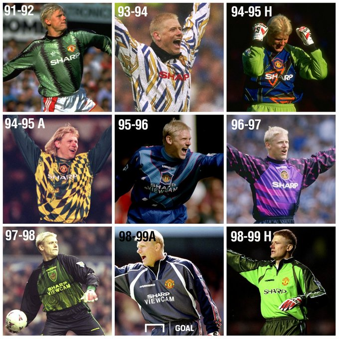 Happy Birthday Peter Schmeichel! What was his best Man Utd goalkeeper jersey?