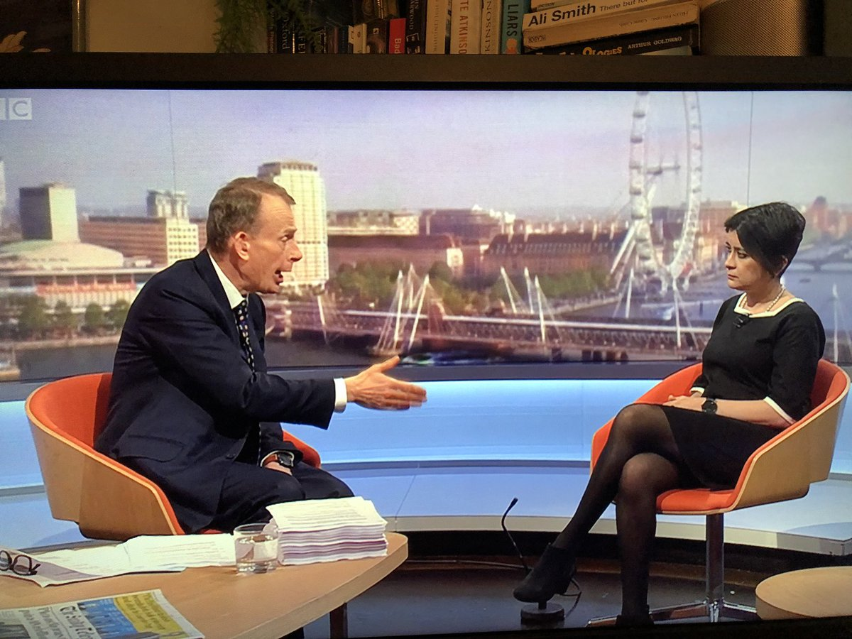 """My 11-year-old son is watching #Marr with me: """"Oh my God, this guy just keeps interrupting. He's *so* annoying."""""""