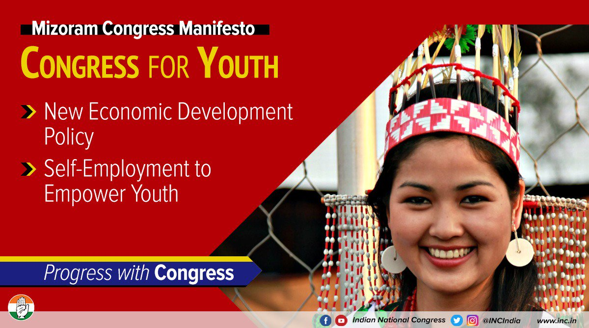 We will strive to ensure the youth of Mizoram have access to the best opportunities for employment. Our future is brighter with an empowered generation.  #ProgressWithCongress