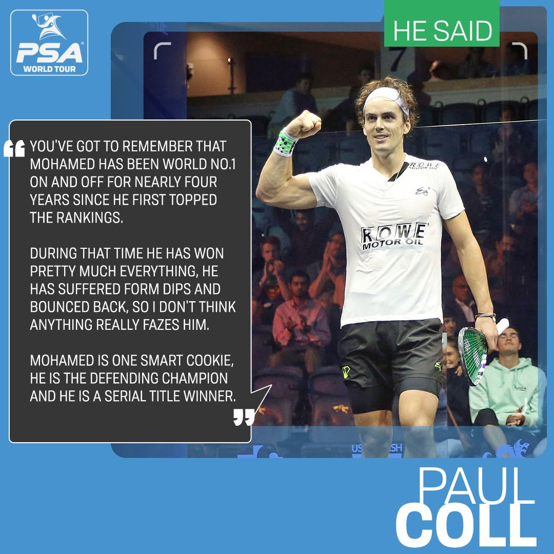 test Twitter Media - 🗣 @MoElshorbagy is still the man to beat at the @HKsquash Open later this week according to @paulcollsquash   The pair are seeded to meet next week in a mouthwatering quarter-finals match 👀  Read more ➡️ https://t.co/3I0oebOhoD #squash https://t.co/qSt2hRUr1I