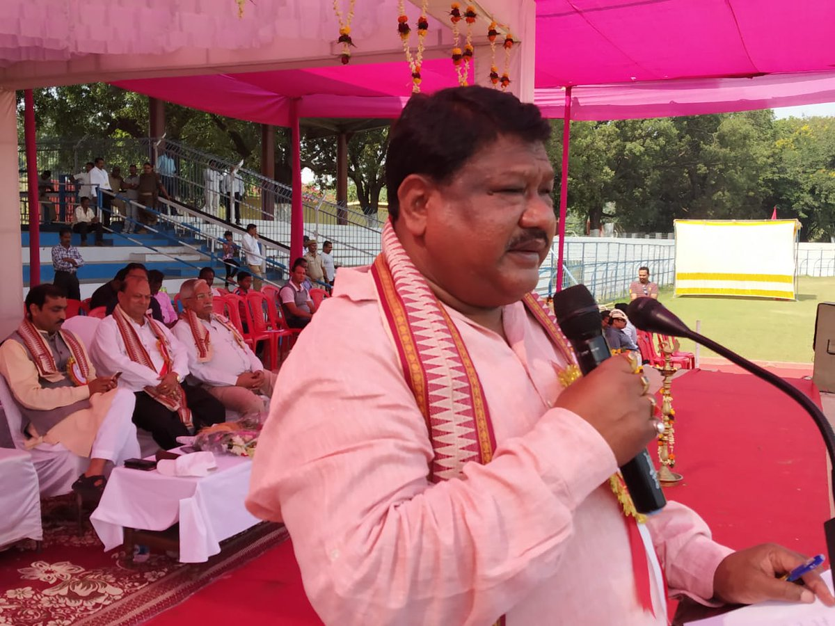 test Twitter Media - I am delighted to see the spirited participation of very talented tribal youths while attending the closing ceremony of state level Tribal Sports meets at Ispat Stadium, #Rourkela. The meet was organised by Vanavasi Kalyan Ashram, #Odisha.  #Tribal #Sports @Ra_THORe #TribalPower https://t.co/GNlNfv1Iwu