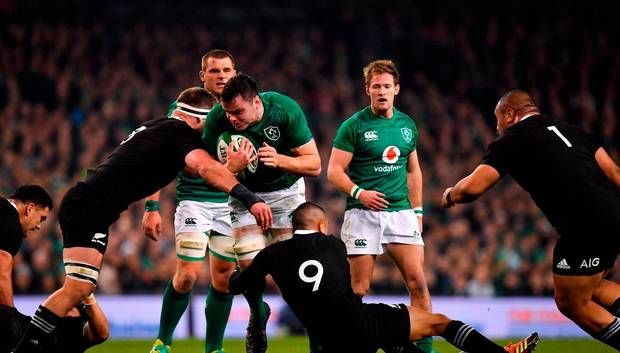 Inspirational Ireland secure a first-ever win over the All Blacks on home soil in a thriller at the Aviva Photo