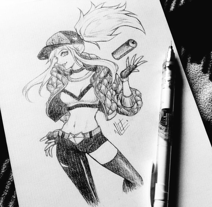 "⭐NonLee💧 on Twitter: ""K/DA #kda #LeagueOfLegends #akali #ahri #kaisa  #evelynn #myart… """