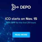 Image for the Tweet beginning: DEPO ICO is Live!    The First
