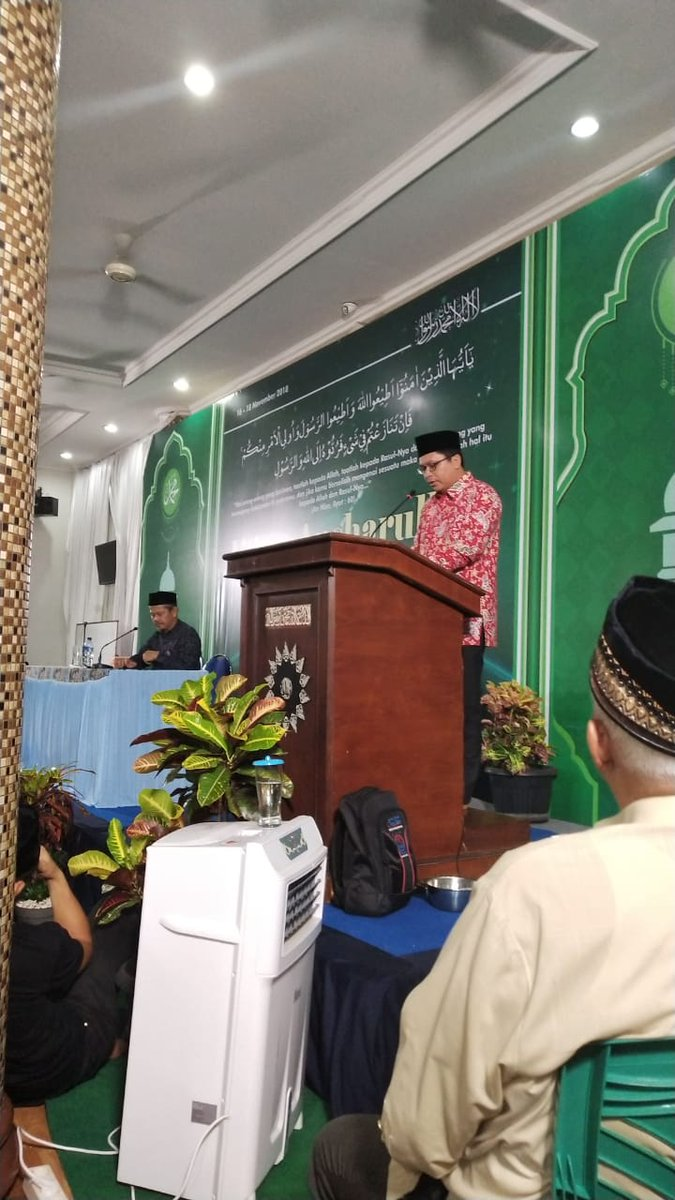Gus @zuhairimisrawi memberikan sambutan dipenutupan Ijtima Nasional Ansarullah JAI @AhmadiyahID @AhmadiyyaTimes