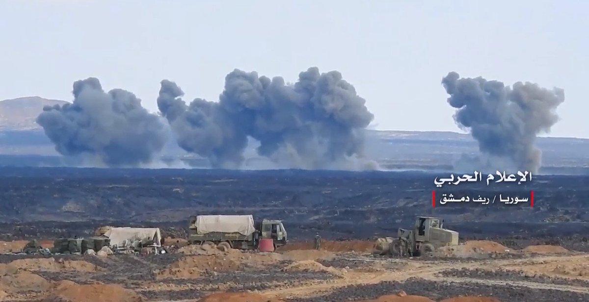 Сирийские и российские военные кошмарят чёрных в провинции Сувейда