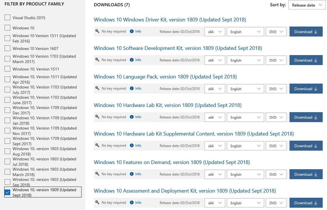 I thought that Windows 10 1809 and Windows Server 2019 were