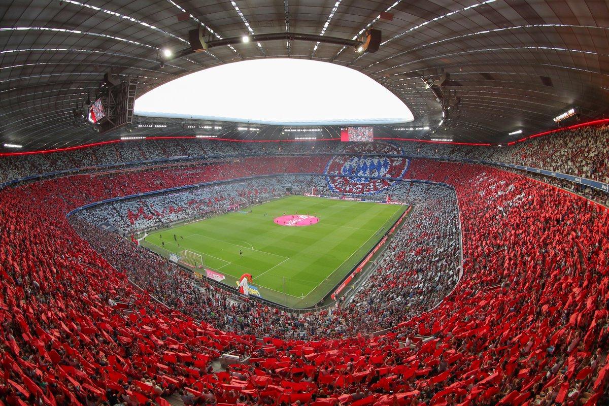 In 6⃣ Tagen wird endlich wieder Bundesliga-Fußball in der #AllianzArena gespielt! 😍   #FCBayern #packmas