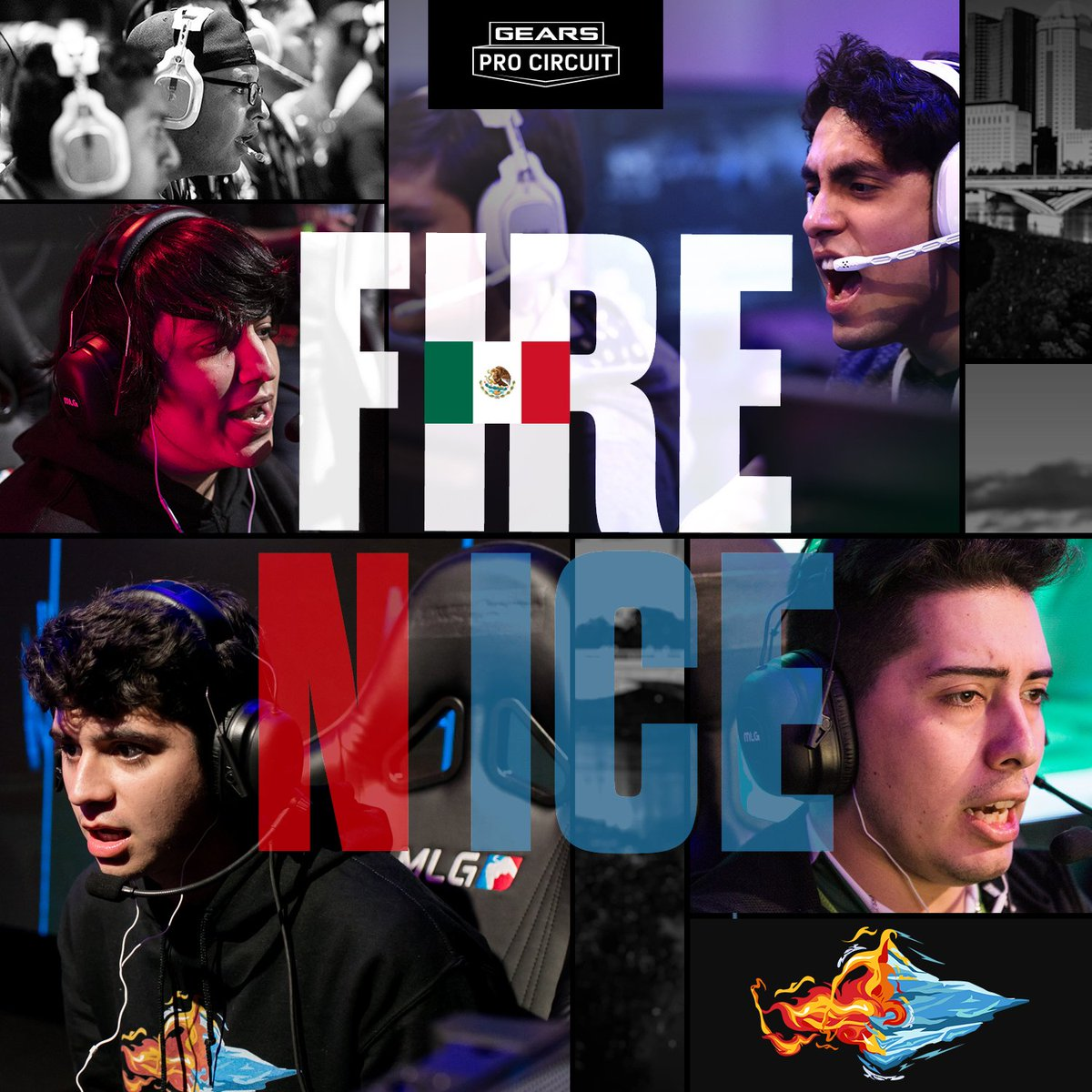 .@FireNIceEsports take on @GGSimplicity on Main Stage, while @OpTicGaming battles LATAM Kings on Bravo. Winners moves on to the semi-finals, Losers go home.  Tune in now! Main - http://live.gearsofwar.com  Bravo - http://live.gearsofwar.com/mixer-bravo  Spanish Captions - http://live.gearsofwar.com/twitch-spanish