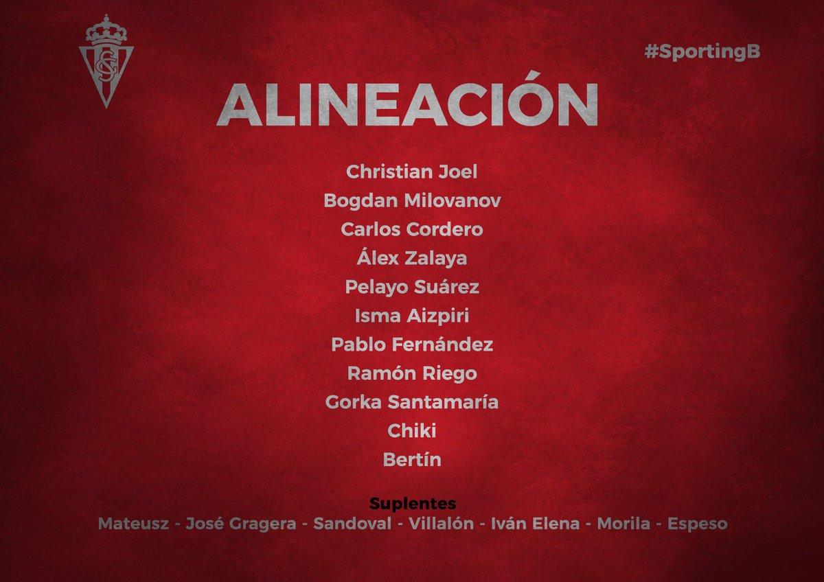 #SportingB  👉 Jornada 13 del Grupo II de Segunda División B  📋 Alineación 🆚 @CDVitoria1945   ⏰ 17:00 horas   🏟 Ellakurri   🔴⚪️ Vamos Guajes 🔴⚪️
