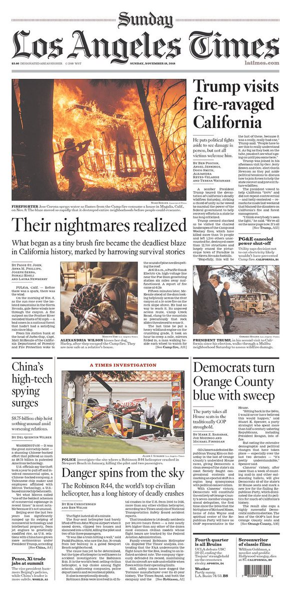 The @latimes front page is full of amazing journalism today