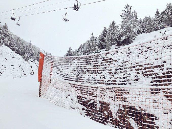 ¡La nieve ha vuelto a vistarnos! ¡Así está Cerler! ☃️❄️🤟🏻