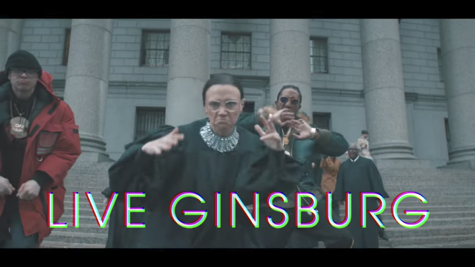WATCH: SNL pays tribute to Ruth Bader Ginsburg after broken ribs with 'RBG Rap' https://t.co/8INwlrOIPQ https://t.co/GkR44hQUSj