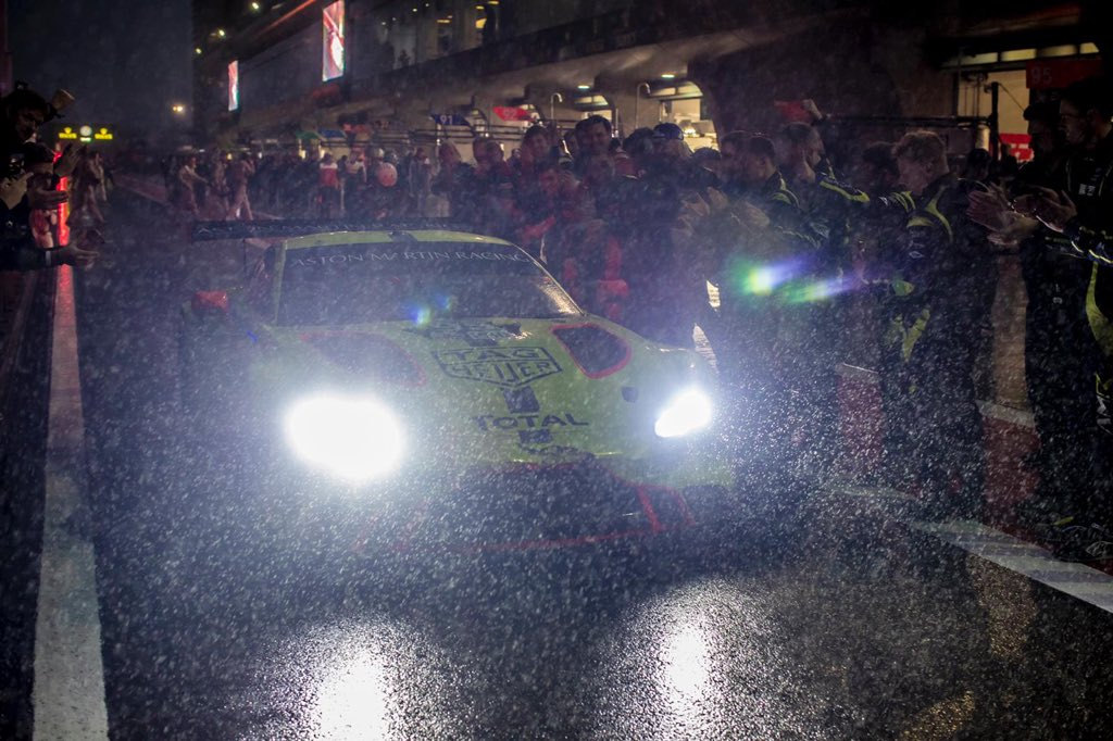 Our @AMR_Official Vantage GTE recorded…