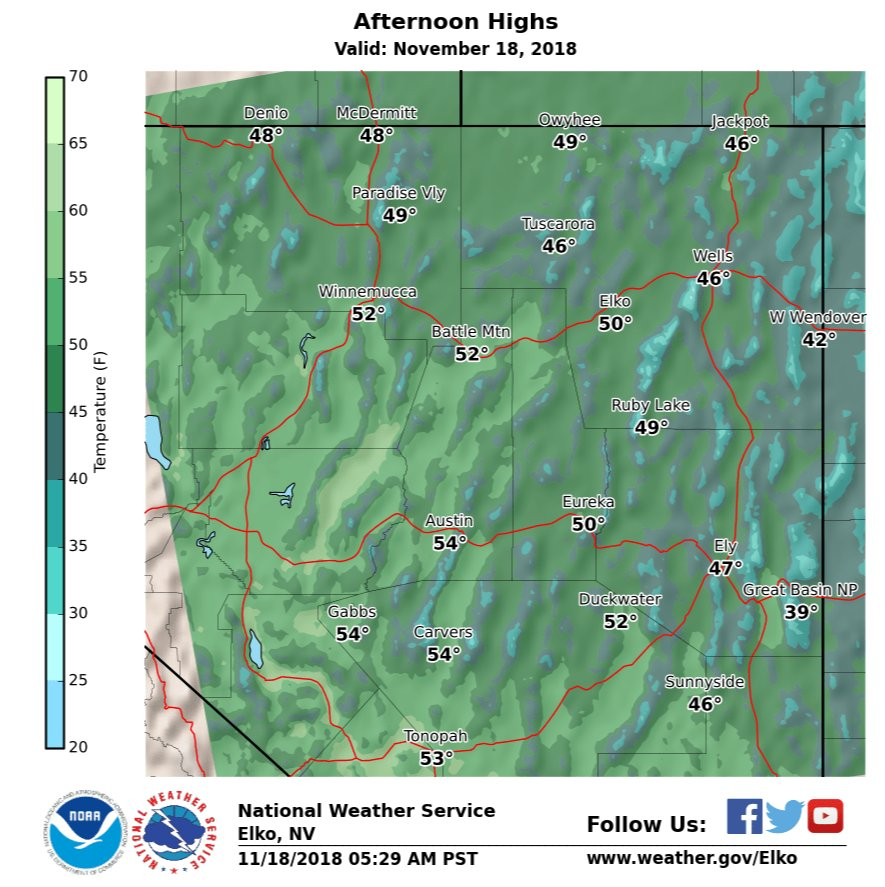 Do upper 40's/low 50's sound good to you? The weather plays nicely to start the new week! Enjoy today, everyone! #nvwx