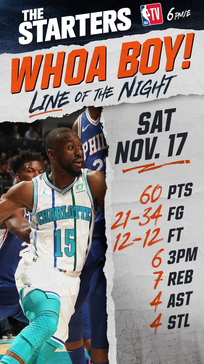 King Kemba! The @hornets @KembaWalker wins Saturdays #WhoaBoy of the Night! #Hornets30 #TheStarters