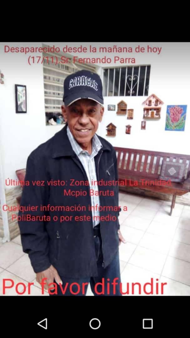 via @marucente: Es un tío me ayudan a difundir y estar pendiente si le ven en Caracas https://t.co/VIzSu5Bj9k