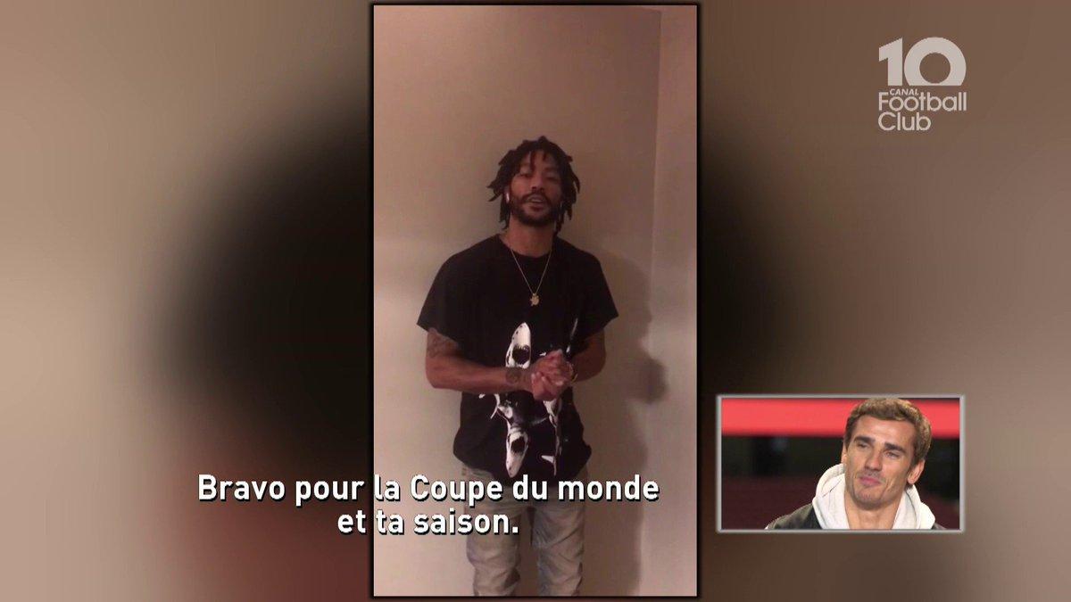 Cest mon idole... 🙏 Quand @AntoGriezmann parle de @drose (@Timberwolves) dans le @CanalFootClub 🏀 #CFC @TrashTalk_fr