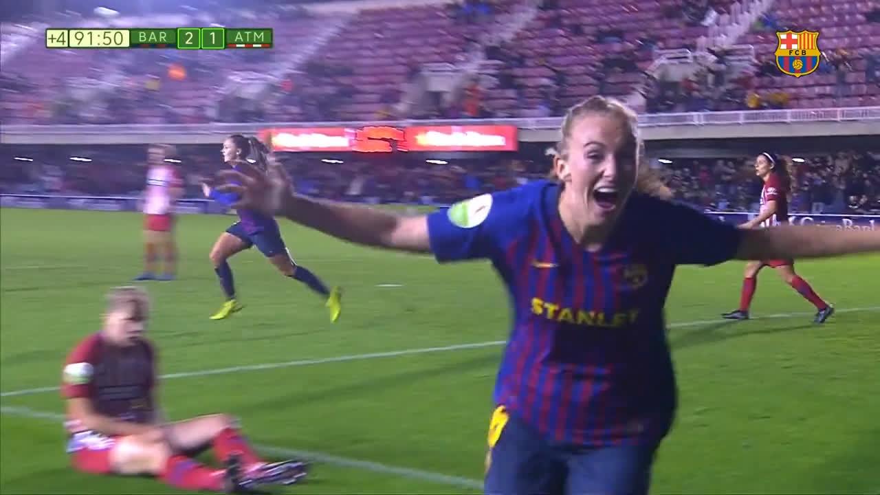 ��HIGHLIGHTS @FCBfemeni �� At. Madrid    ����!!! ���� #ForçaBarça https://t.co/I0YWijZVbg