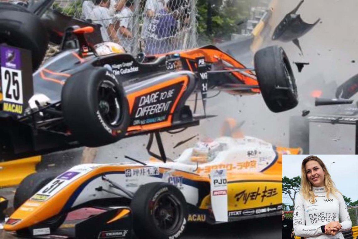 #Automovilistmo | Dramático accidente de una joven piloto en la Fórmula 3
