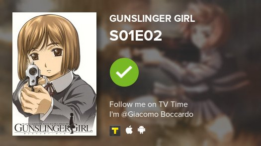 test Twitter Media - I've just watched episode S01E02 of Gunslinger Girl! #gunslingergirl  #tvtime https://t.co/XcvHJcHSc4 https://t.co/w9CMWGWMTS