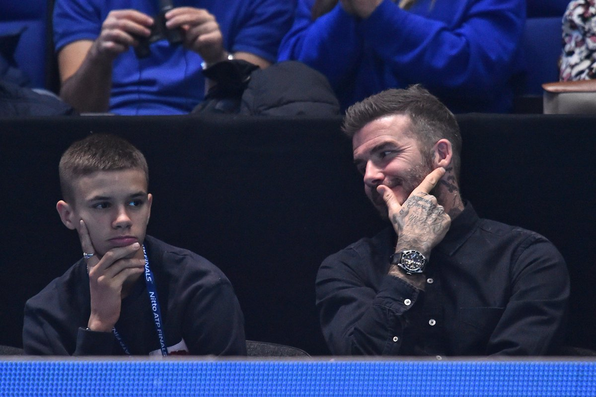 David and Romeo Beckham are ready for the Finals, are you? 🙌 #NittoATPFinals