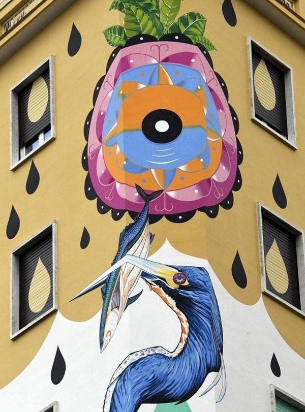 È il murale mangia-smog più esteso d'Europa, grazie a una speciale pittura è in grado di depurare aria come un bosco di 30 alberi. Si tratta di #HuntingPollution, realizzato su un palazzo al quartiere #Ostiense dall'artista Federico Massa (alias @ienacruz) https://t.co/Jf0ataax5S