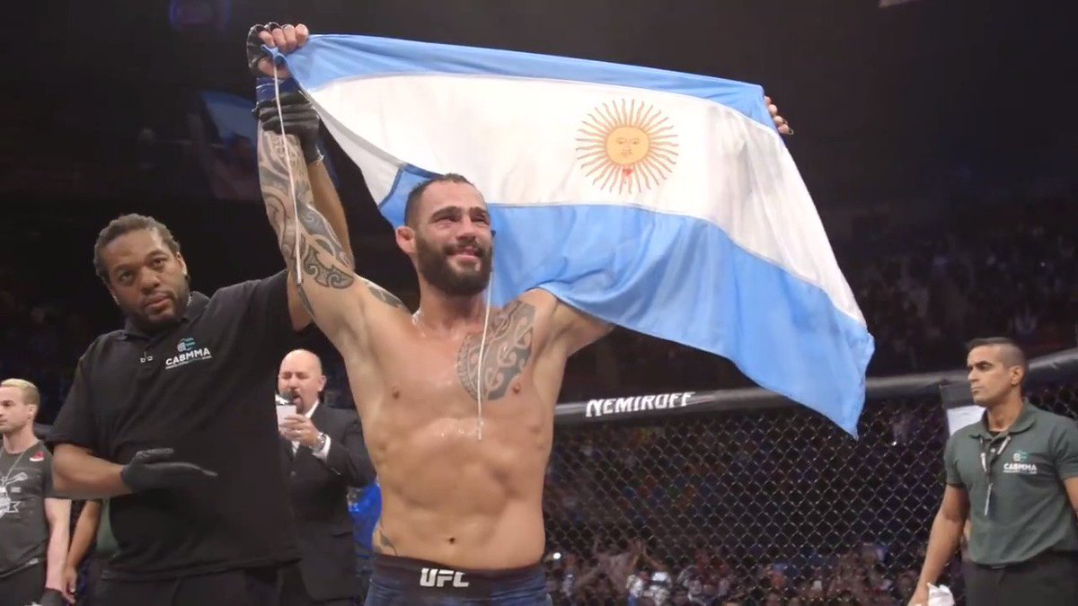"""This is a dream for me.""  @SPonzinibbioMMA #UFCArgentina"