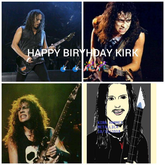 Happy birthday Kirk Hammett       wish u the best